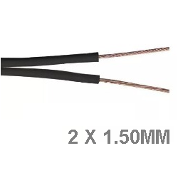 Cable bipolar 2x1.50mm Negro