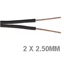 Cable bipolar 2x2.50mm Negro