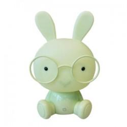 Velador conejo verde 2w Jieli