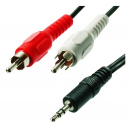 Cable Plug 3.5 st a RCA JA