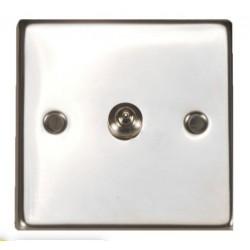 Timbre cuadrado pulsador acero