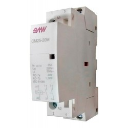 Contactor 25a 24v 1 din Baw